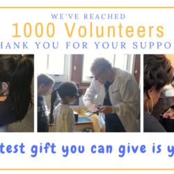 1000 Volunteers